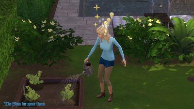 庭仕事中のジュラ