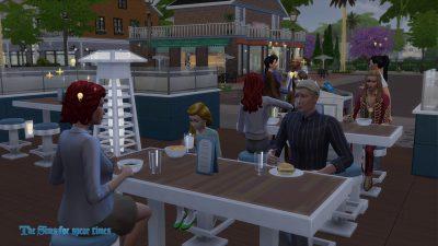 レストランにて